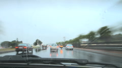 Timelapse Cape Town Rush Hour in the Rain GFTHD Stock Footage