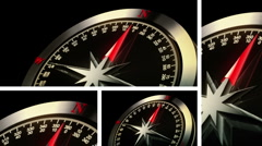 Global Compass HD travel map Stock Footage