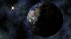 Stereoscopic 3D Earth 002 - HD Left Stock Footage