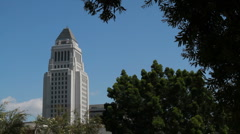 LA City Hall Stock Footage