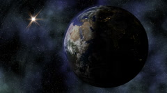 Stereoscopic 3D Earth 002 - HD Right - stock footage