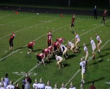 Football Halfback Run Stock Footage