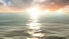 Rippling Waves Under Sunrise Sunset - stock footage