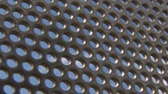 Stainless Hole Grid Sky Pattern Panel Stock Footage
