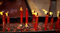 Chinese Red Gold Candle, The Chinese Temple in China Town in Bangkok, Thailand Footage