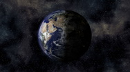 Stereoscopic 3D Earth 003 - HD Left Stock Footage