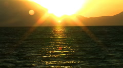 Sunset the set of the day  Stock Footage