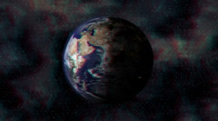 Stock Video Footage of Stereoscopic 3D Earth 003 - HD Anaglyph