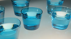 Glasses of pure water Stock Footage