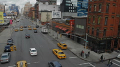 Chelsea Corner on 10th Avenue in NYC Stock Footage