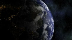 Stereoscopic 3D Earth 004 - HD Right Stock Footage