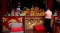Chinese People Praying, Worship, Red Gold Candle, The Chinese Temple, China Town Footage