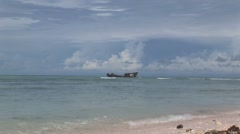 Old ship Aruba island in the caribbean - stock footage