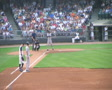 Baseball Out At First Base 02 SD Footage