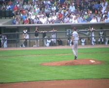 Pitcher Delivers Ball Stock Footage