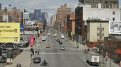 Chelsea in NYC on 10th Avenue Stock Footage