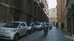Rome. Scooter glidecam (short clip) Stock Footage
