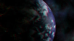 Stereoscopic 3D Earth 006 - HD Anaglyph - stock footage