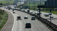 Stock Video Footage of Traffic on the M1 Motorway dual carriageway.
