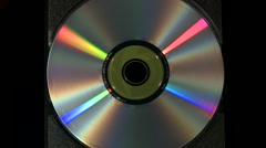 CD tray with disc ejecting and re-closing - stock footage