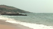 Paradise beach in Goa, India Stock Footage