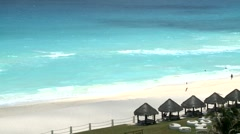 Beach Cancun - stock footage