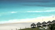 Stock Video Footage of Beach Cancun