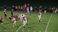 Stock Video Footage of Football Reception and Tackle