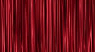Stock Video Footage of Red curtains open and close