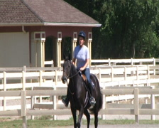 Female Equestrian Student Stock Footage