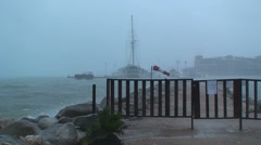 Tropical storm Aruba island in the caribbean Stock Footage