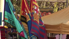 FC Barcelona soccer match day Stock Footage