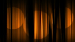 Orange Curtains Spotlights includes Stock Footage