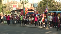 FC Barcelona stadium before game with fans Stock Footage