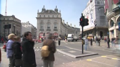 Piccadilly Circus Timelapse 3 Stock Footage