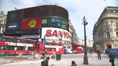 Piccadilly Circus Timelapse 1 Stock Footage