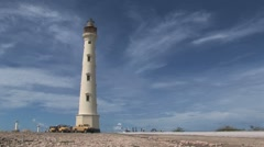 Lighthouse Aruba island in the caribbean Stock Footage