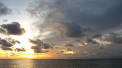 Sunset over ocean - stock footage