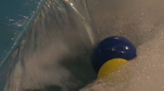 The ball at the jet of water Stock Footage