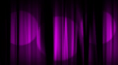 Pink Curtains Spotlights includes Stock Footage