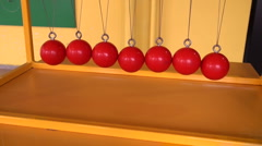Balls on strings - stock footage