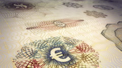 Paper Currency Scrolling Background Loop HD Stock Footage