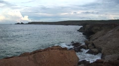 Stock Video Footage of Natural bridge Aruba island in the caribbean