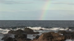 Stock Video Footage of Rainbow from the sea Aruba island in the caribbean