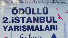 Istanbul signs sequence Stock Footage