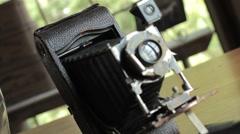HD Vintage Film Camera - rack focus 1 Stock Footage