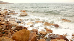 Waves at the Dead Sea, seamless loop Stock Footage