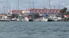 Oranjestad Aruba island in the caribbean - stock footage