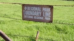 Regional Park Boundary Line Stock Footage