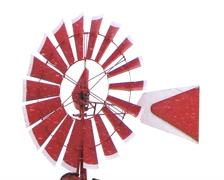 Windmill in Snowstorm Stock Footage